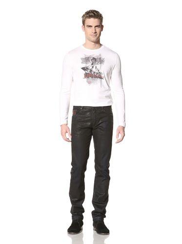 51% OFF Fendi Men\'s Slim Straight Jeans (Black)