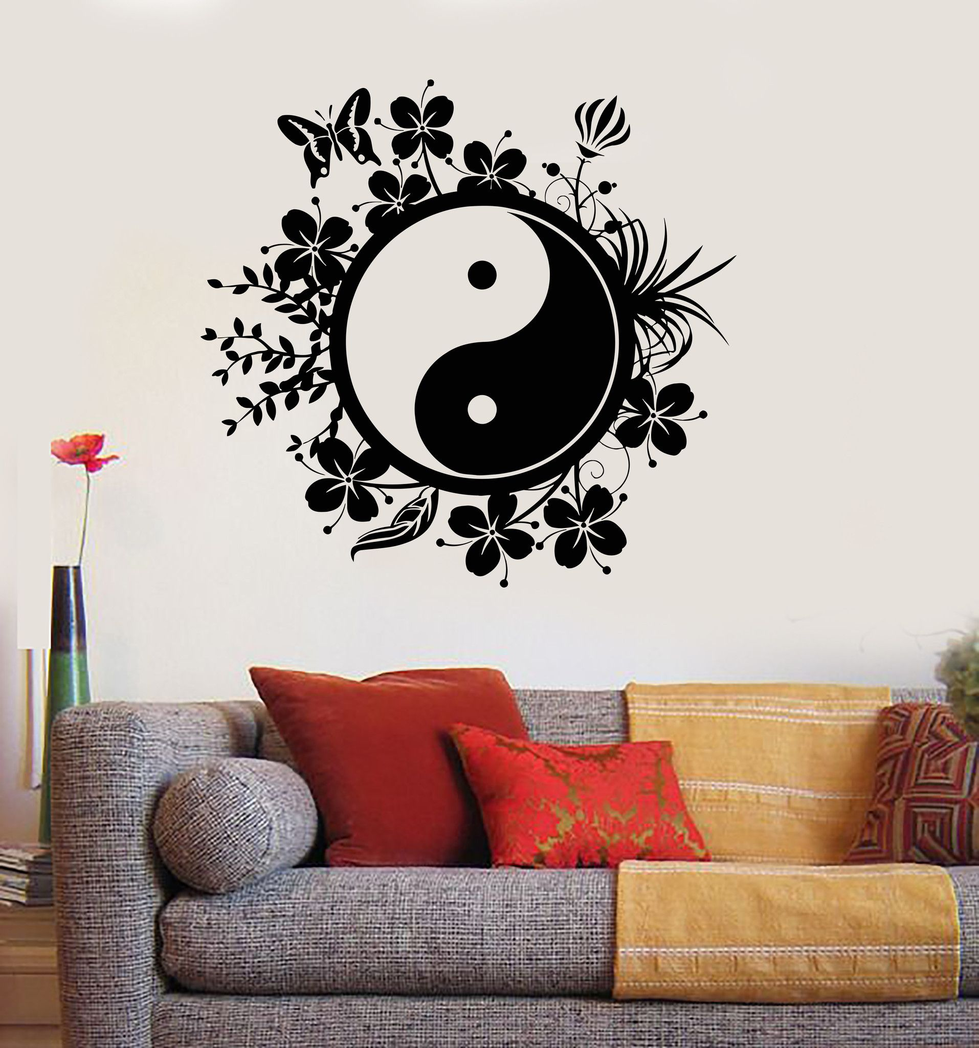 Vinyl Wall Decal Yin Yang Tai Chi Chinese Philosophy