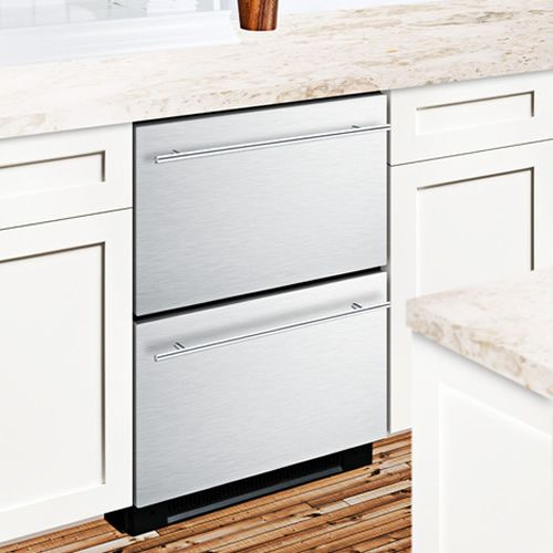 NEED THIS FOR MY SMALL KITCHEN - Summit Stainless Steel Built In Drawer Refrigerator - SP5DS2DSSHH
