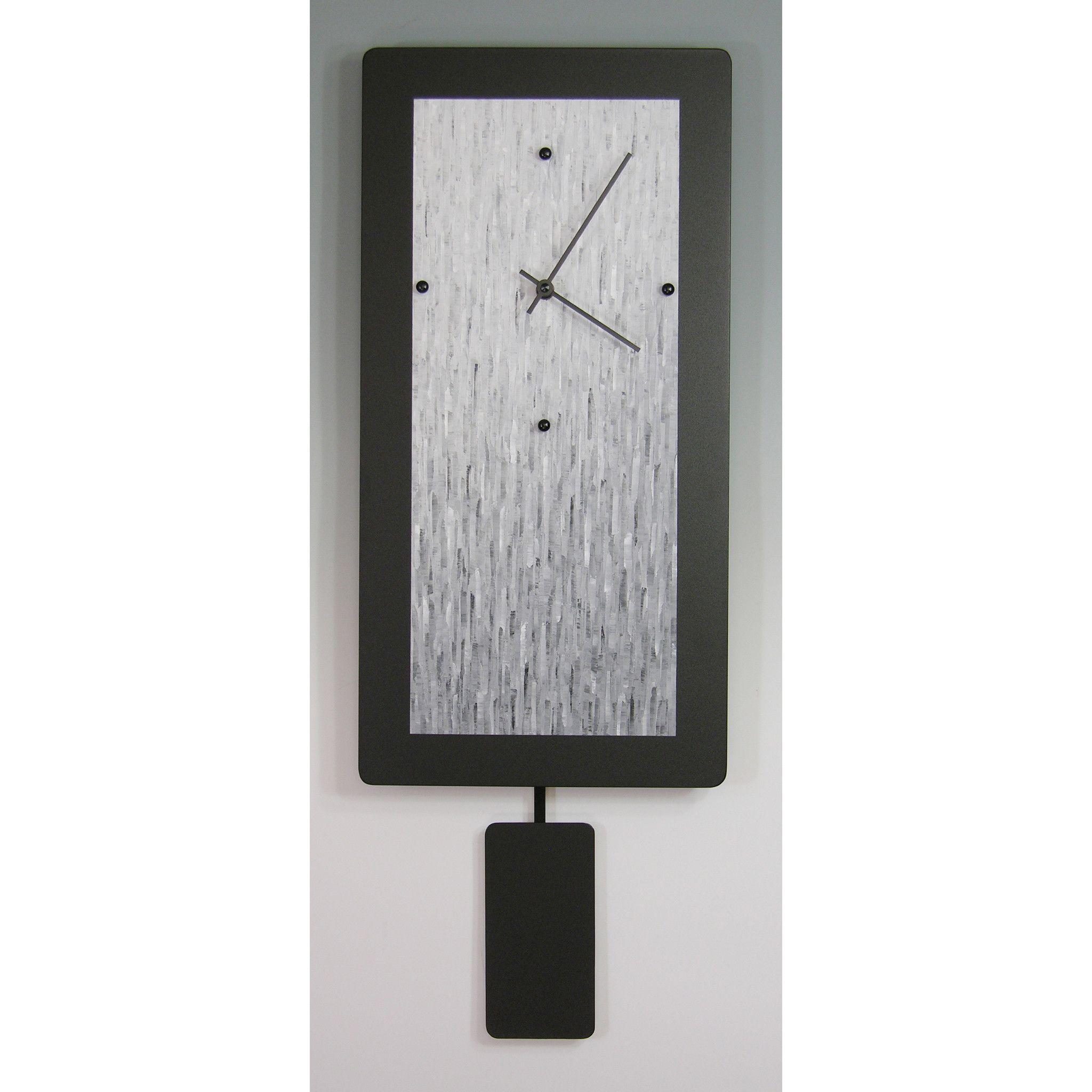 Pendulum Clocks B820p B1020p B1224p Gray Blend By Linda Lamore Clock Painting Clock Metal Clock