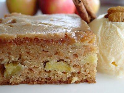 Fresh Apple Cake w/ Brown Sugar Glaze. Caramelly. Appley. Delicious.