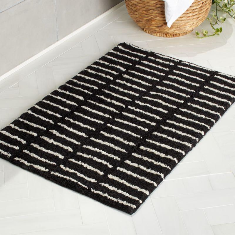 10++ Black and white bathroom rug info