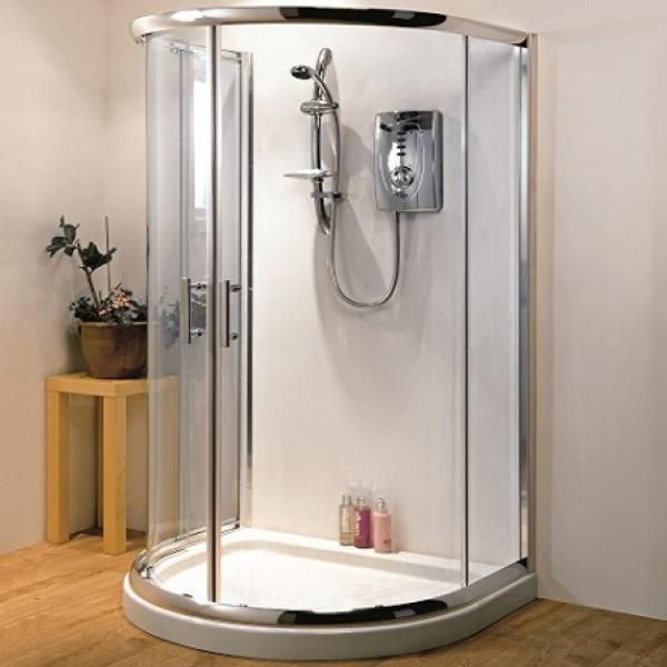Hydrolux D Shaped Quadrant Shower Enclosure 6mm Glass No Tray ...