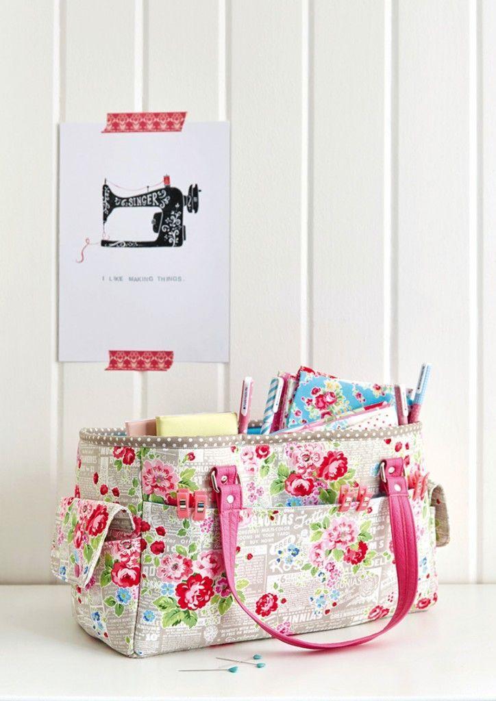 FREE Oslo Craft Bag pattern | nähen | Pinterest | Nähen, Taschen ...