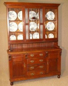 Kitchen In 1910 Unusual Antique Oak Welsh Kitchen Dresser Circa 1910 Martin Gilbert My Edwardian Dollhouse