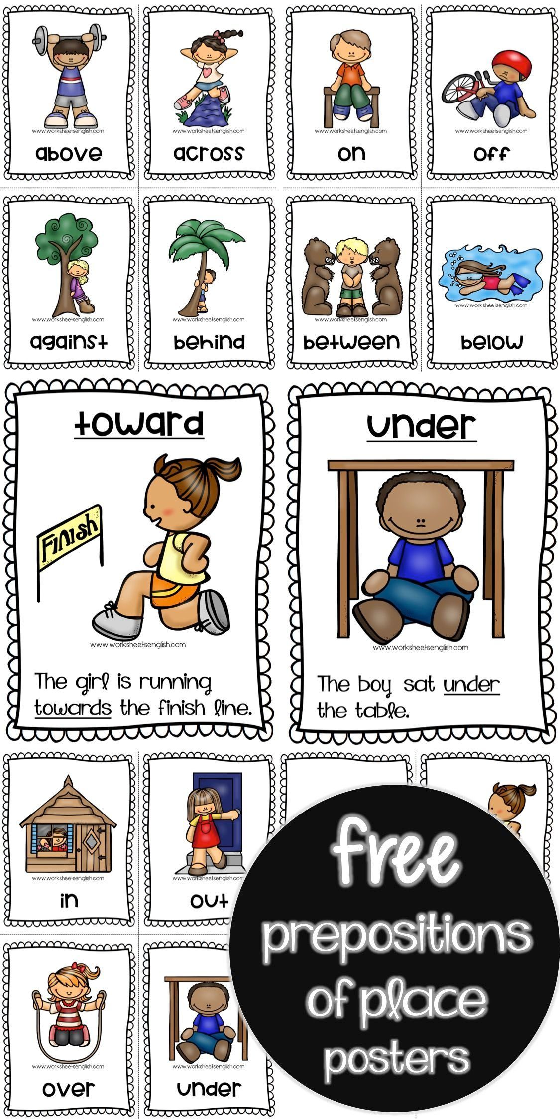 Prepositions Of Place Flashcards Free