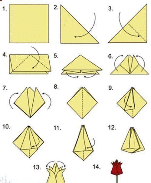 Origami Tulpen Falten Anleitung Dekoking Com 1 Basteln Kinder
