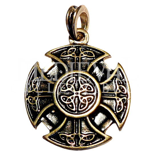 Celtic cross pendant gold finish lavalliere pinterest celtic cross pendant gold finish aloadofball Images