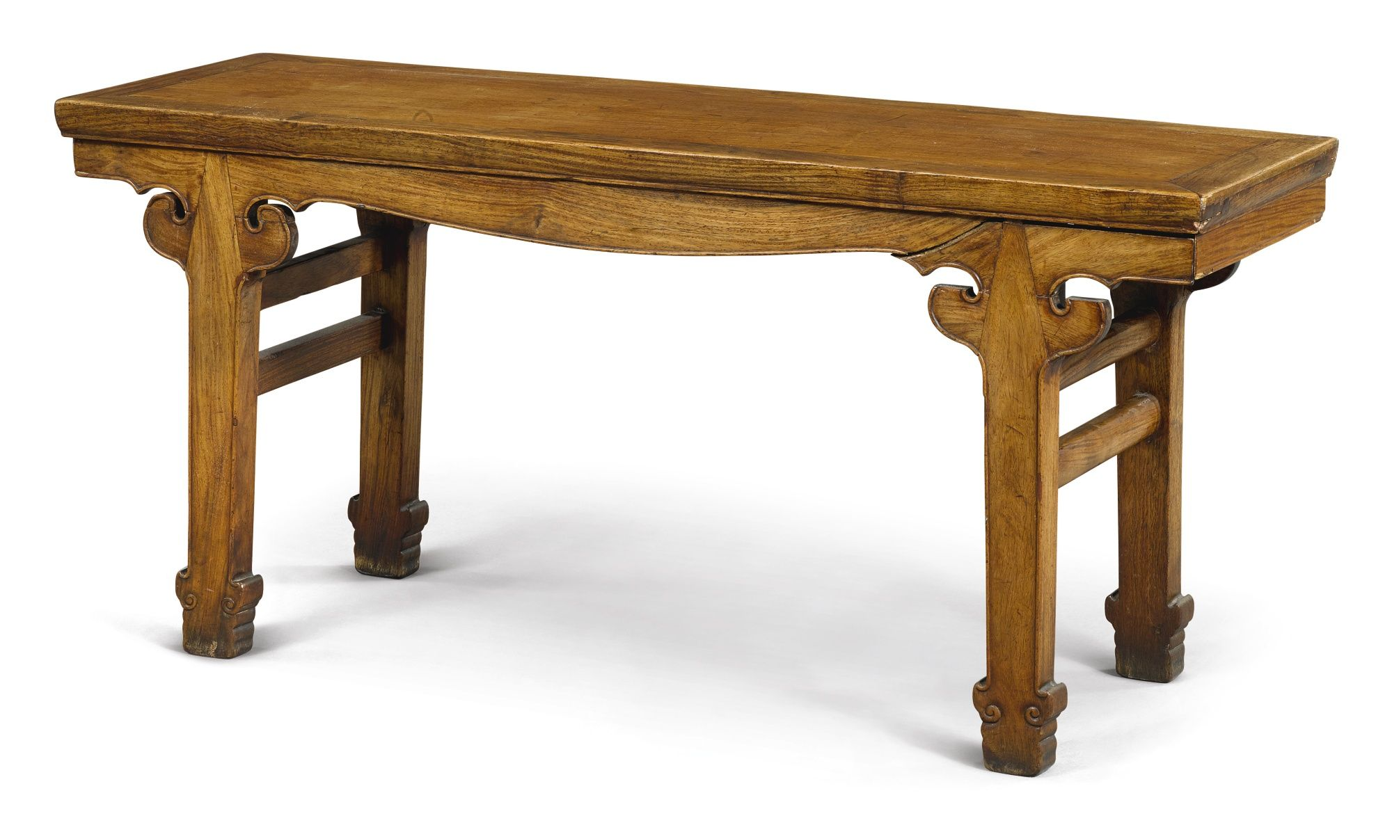 A 'HUANGHUALI' RECESSED-LEG BENCH  QING DYNASTY 1644–1912