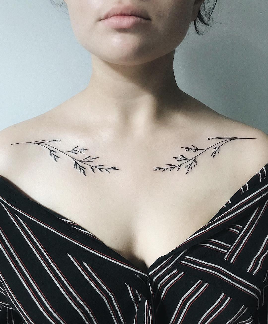 47++ Amazing Small collar bone tattoos for females image HD