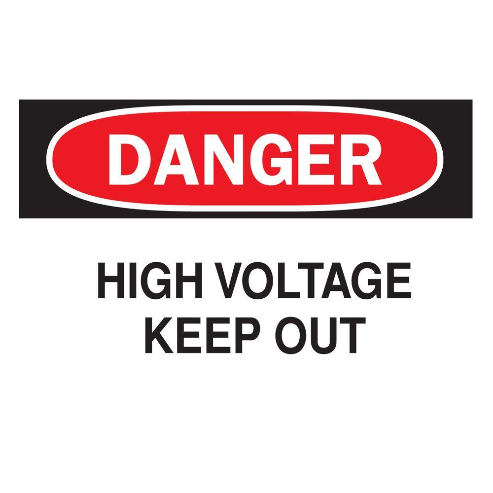 10 in x 14 in plastic danger high voltage osha safety sign red plastic danger high voltage osha safety sign red buycottarizona Images