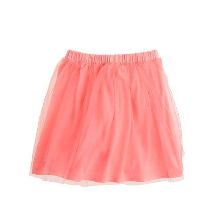 Girls' tippy-toe tulle skirt/