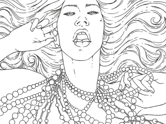 8 gorgeous erotic lesbian line drawings youll want to print out and color immediately - Drawings To Print Out And Color