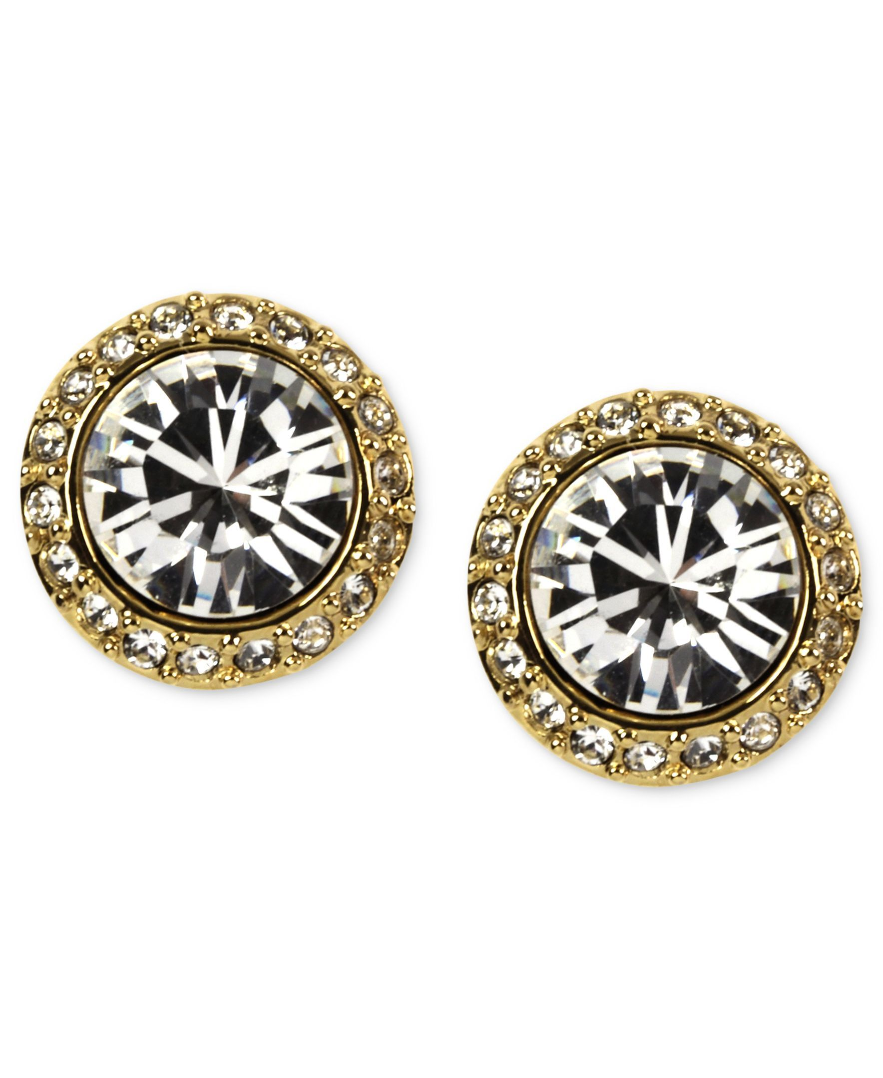 0dbe6f2c6 Givenchy Earrings, Gold-Tone Swarovski Element Button Earrings ...
