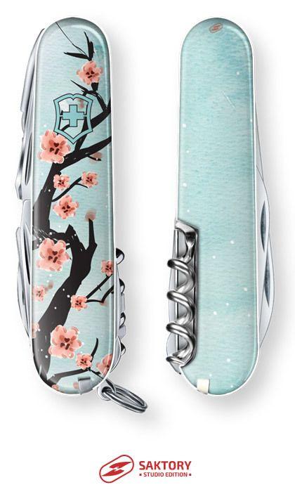 Cherry Blossoms Victorinox Swiss Army Knife Saktory