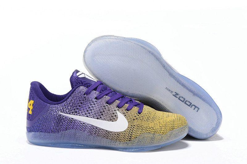pretty nice b2f8d faed4 Genuine Nike Kobe 11 XI Lakers Gold Yellow Court Purple Away