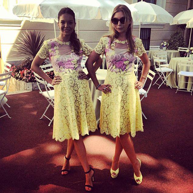 Cortejo de la boda de Andrea Casiraghi y Tatiana Santo Domingo. Modelos coloridos de Dolce