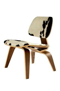 Charles Pony Hide Chair   Black/White