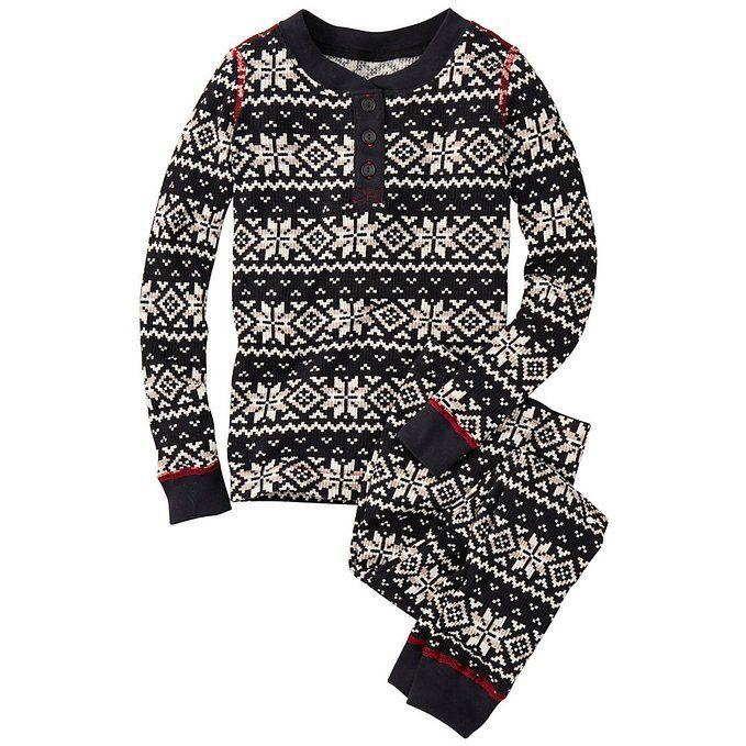 Hanna Andersson Little Girl Thermal Long John Pajamas In Organic ...