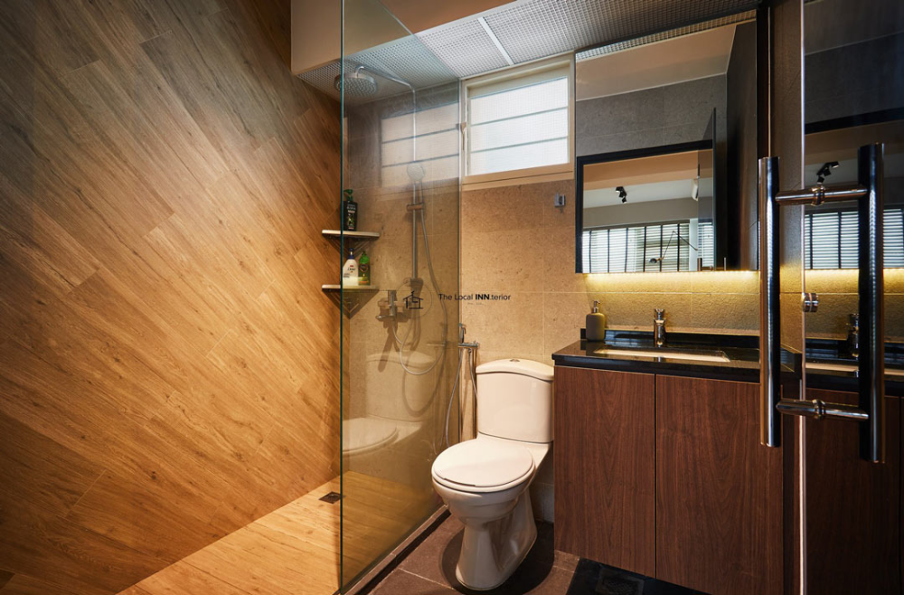 15 Warm And Cosy Bathrooms With Wood Accents In 2020 Interior Design Singapore Cosy Bathroom Interior Design