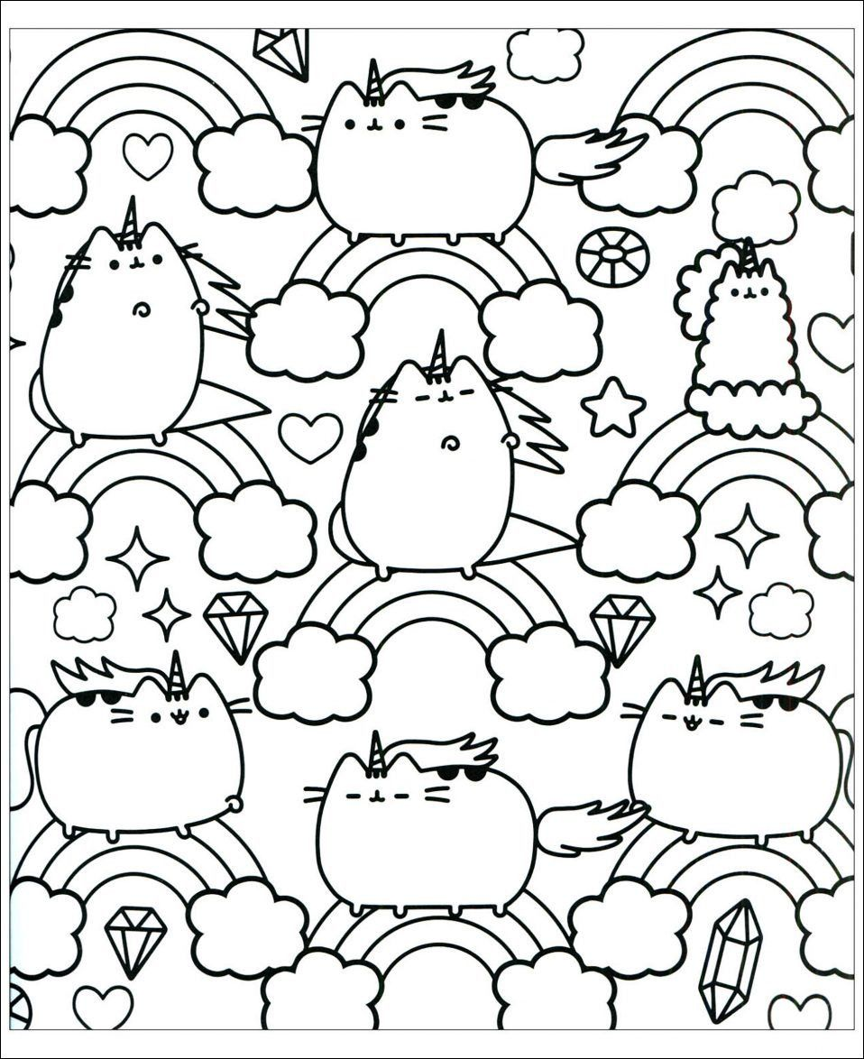 Unicorn Cat Coloring Page Youngandtae Com Unicorn Coloring Pages Pusheen Coloring Pages Coloring Pages