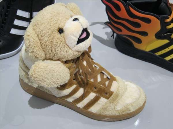 The Teddy Bear Adidas from Jeremy Scott Bring Back the Comfort of the Crib   babies ea20e01291e