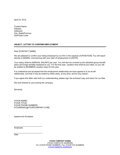 Confirming Letter Of Employment from i.pinimg.com