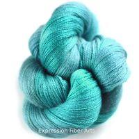 """AQUAMARINE- """"Shimmering Cashmere"""" - 50% Cashmere/ 50% Silk Yarn 50g/358 yd"""