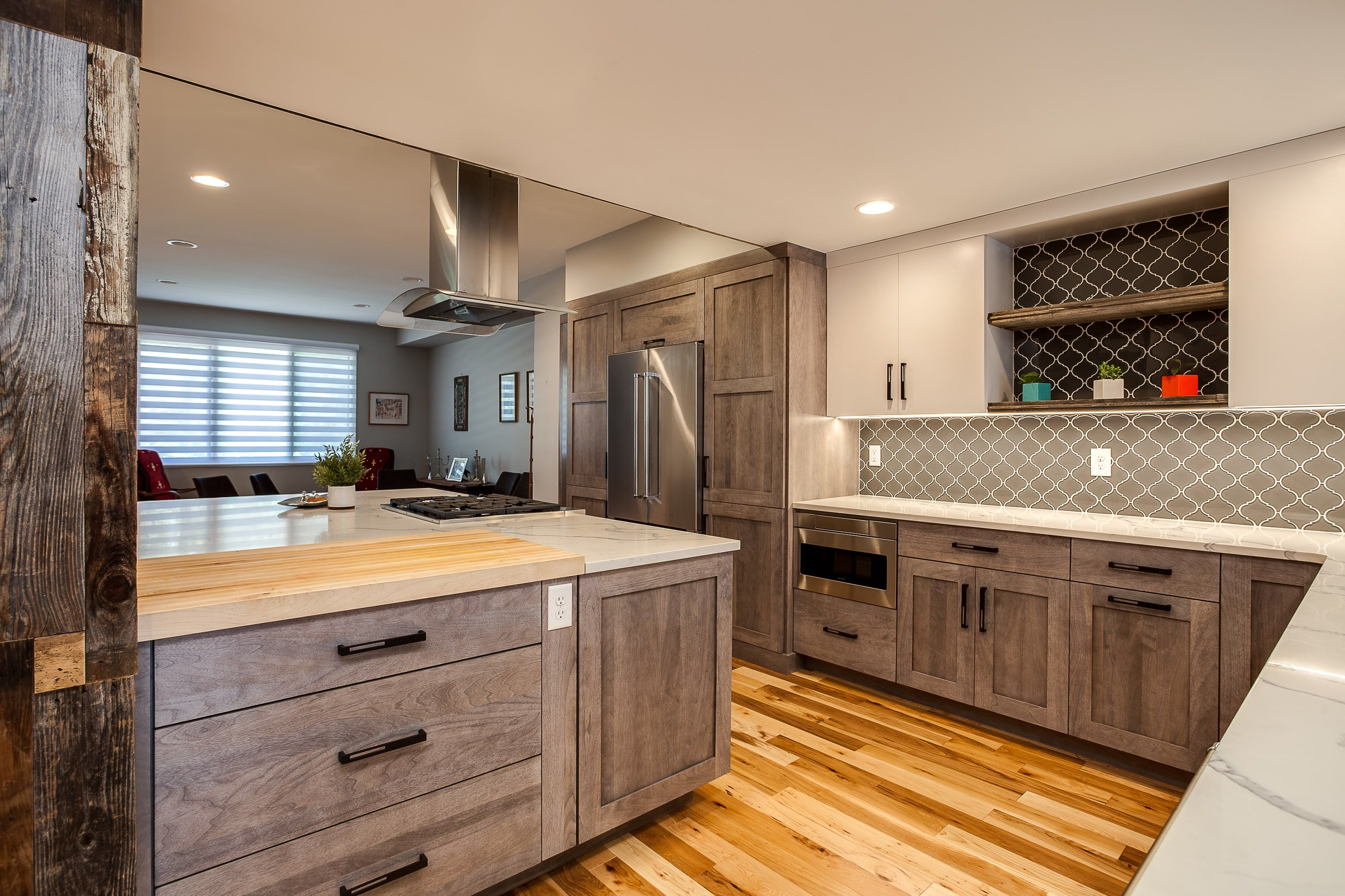 Find The Right Floor For Your Kitchen Jm Kitchen And Bath Https Www Jmwoodworks Natural Wood Kitchen Natural Wood Kitchen Cabinets Kitchen Cabinet Remodel