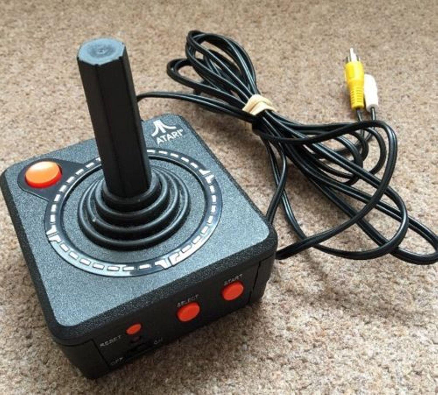 Atari plug play tvgames console joystick just plug in