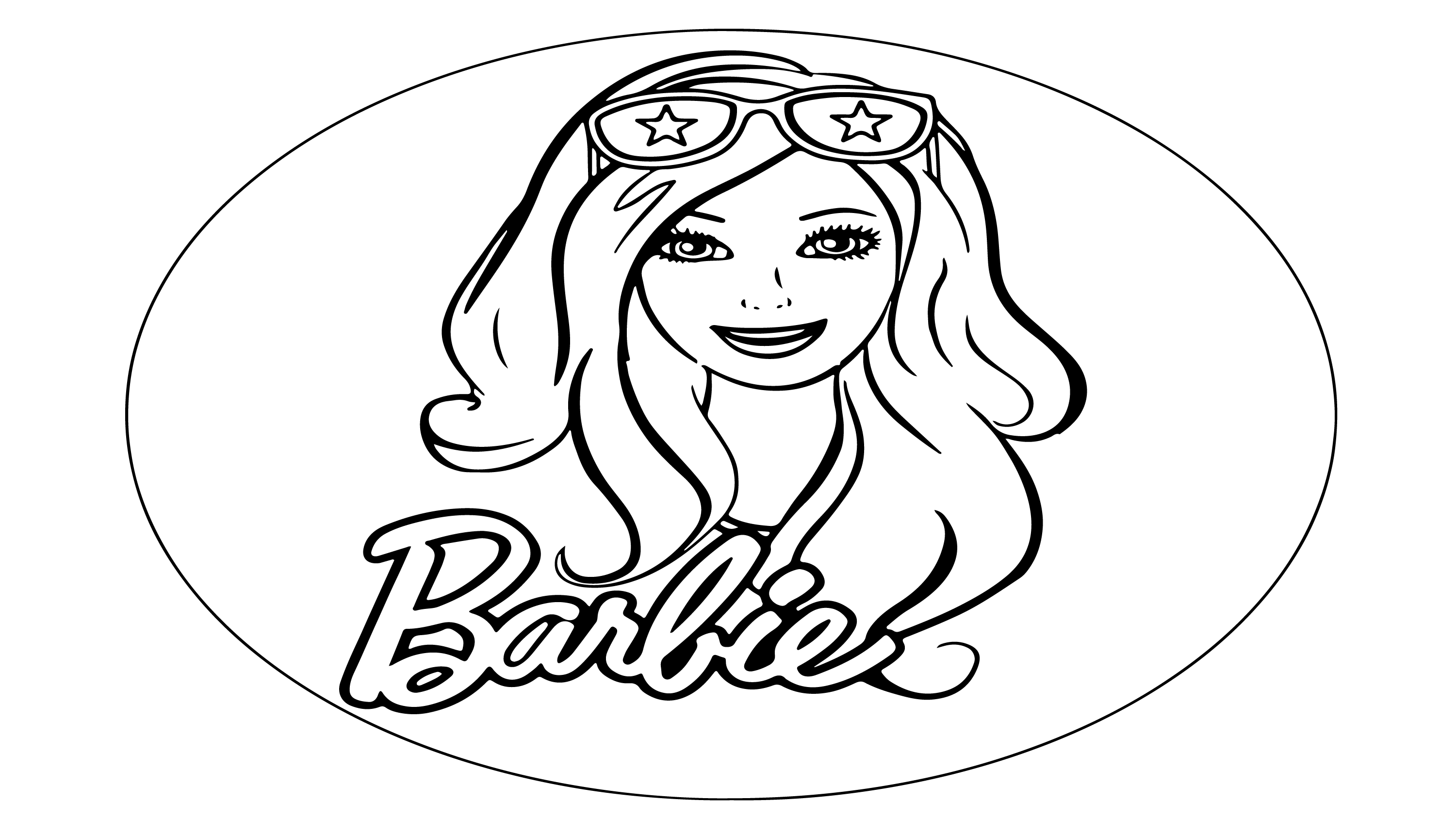 For The Coloring Page Of Our Barbie Doll We First Draw It With A