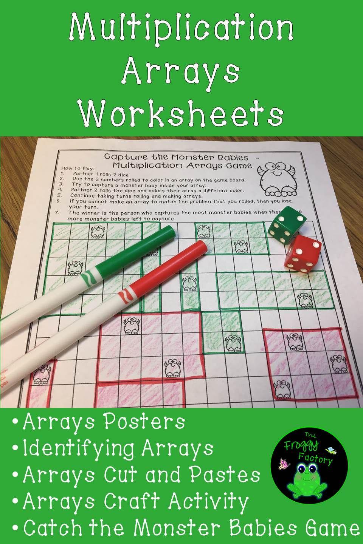 Workbooks multiplication arrays worksheets : Multiplication Arrays Worksheets - (NO PREP Printables)   Math ...