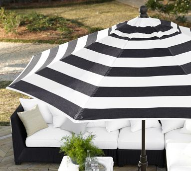 With Black White Stripe Outdoor