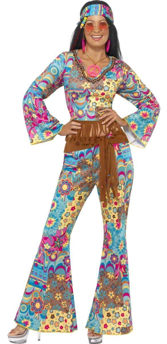 1960s 1970s Tie Dye Costume Hippy Hippie Retro Donna Costume Vestito