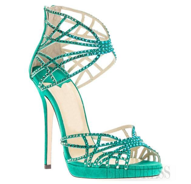 High Quality Upper Women Summer Sandals USD $ 63.19 http://urlend.com/BzEniaf #sandals #Fashion PU Upper Stiletto Heels Platform Women Sandals with Rhinestones #ericdress