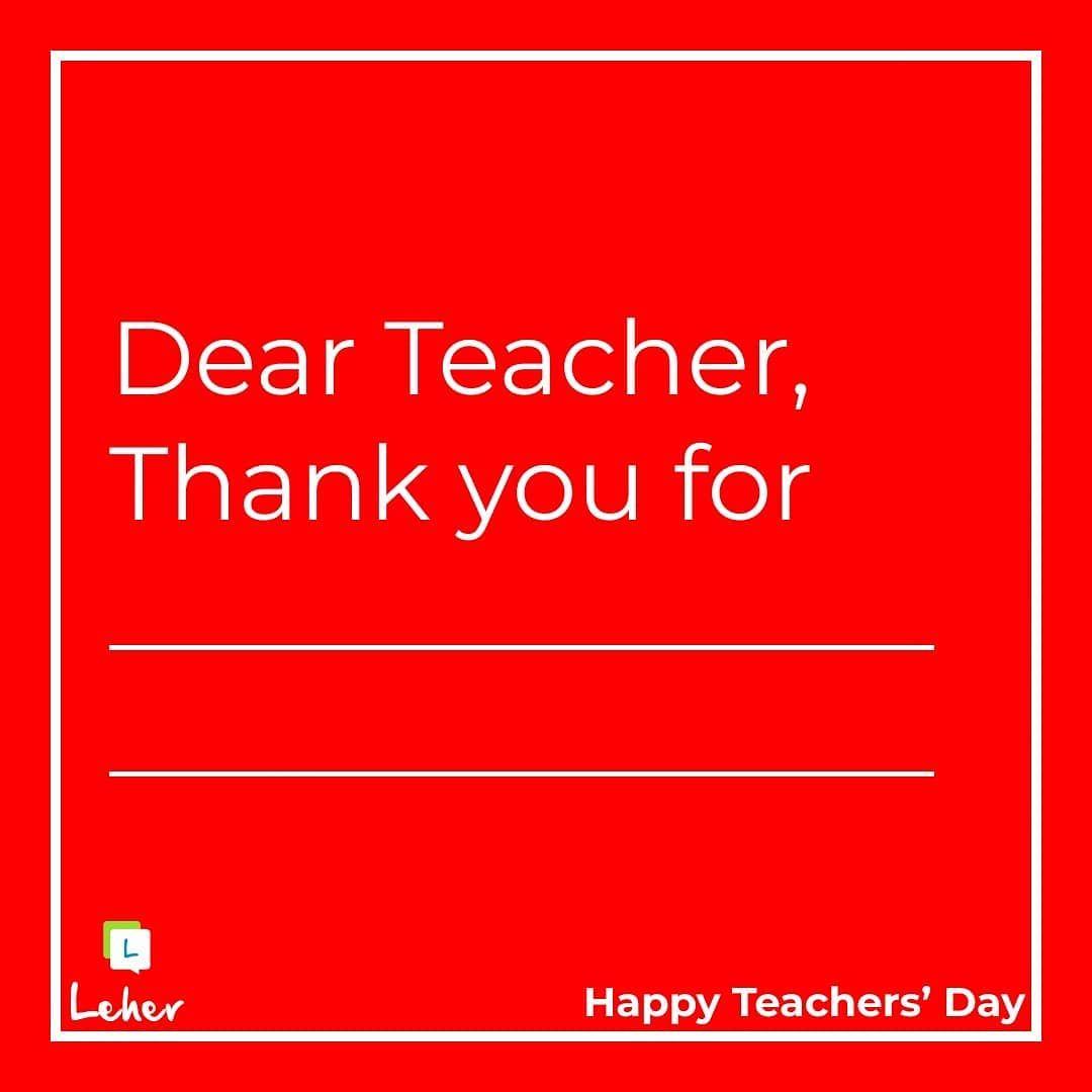 What Would You Thank Your Teacher For Teachersday Teachersday2018 In 2020