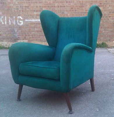 Vintage Wingback Armchair Howard Keith Ebay