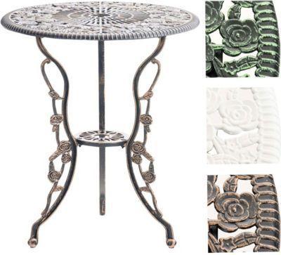 Tisch SHARMA, Gartentisch rund Durchmesser Ø 60 cm, Höhe 68 cm ...