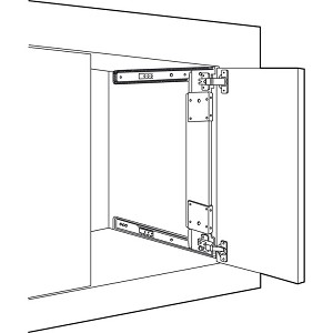 Hafele 408 36 331 Pocket Door System Accuride 123 35 Mm Hinges Included Thebuilderssupply Com Hafele Pocket Doors Door Fittings