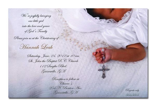 Godu0027s Child African-American Christening Invitations, Baby Baptism - best of sample invitation of baptism