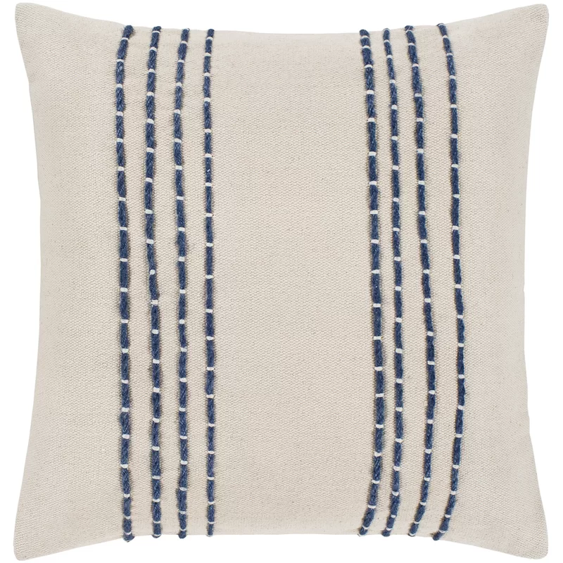 Bungalow Rose Leann Texture Cotton Throw Pillow Cover Reviews Wayfair Embroidered Throw Pillows Stripe Throw Pillow Throw Pillows