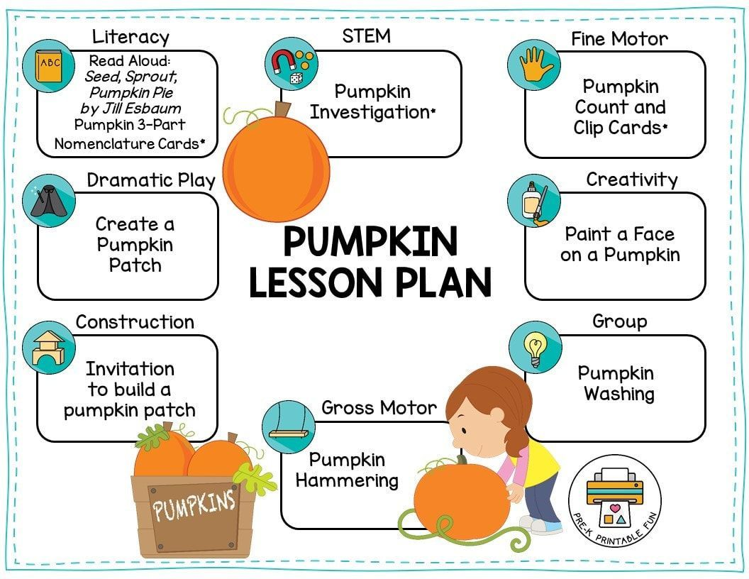 Free Pumpkin Lesson Plan For Your Preschool Check Out The