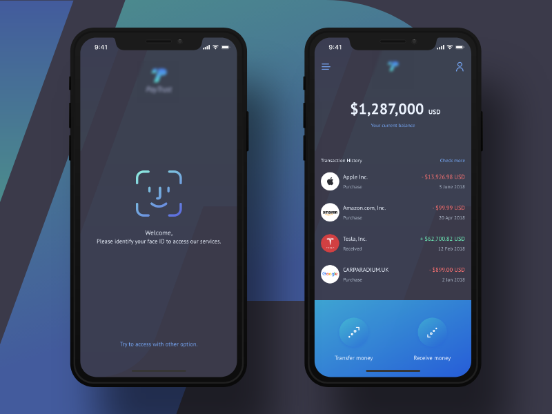A Payment Solution Concept Android App Design Face Id Mobile Design Inspiration