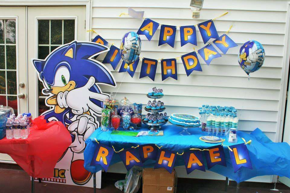Sonic the Hedgehog Birthday Party Ideas Photo 7 of 22