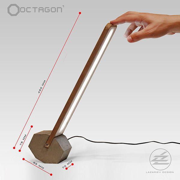 Faceted rolled desk LED lamp Octagon1 Description Table rolled – Desk Led Lamp