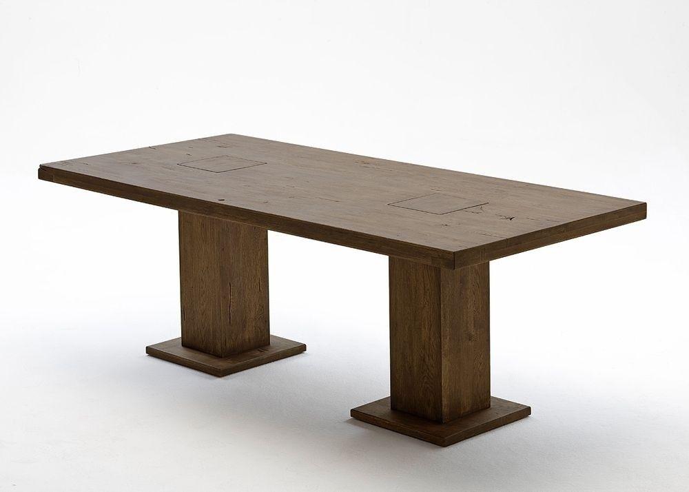 Säulentisch Holz esstisch eiche manchester esszimmertisch 220x100 holz verwittert