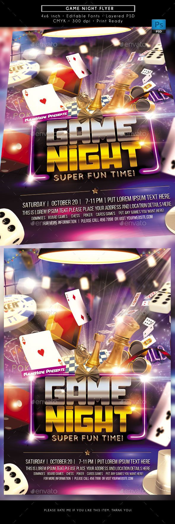 game night flyer pinterest game night flyer template and event