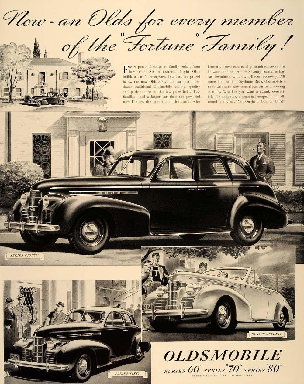 1939 Ad Oldsmobile Automobile Olds Series 60 70 80 Original