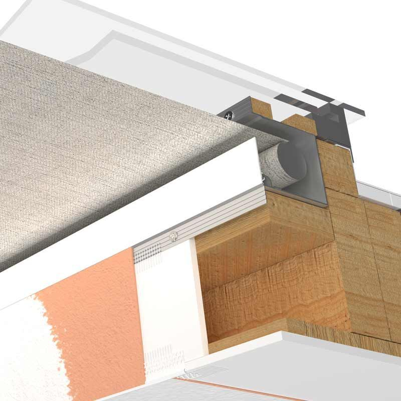 Blindspace Boxes Can Be Installed In Any Direction To Conceal Motorized Blinds Traveling In Any Direction He Skylight Blinds Flat Roof Skylights Roof Skylight
