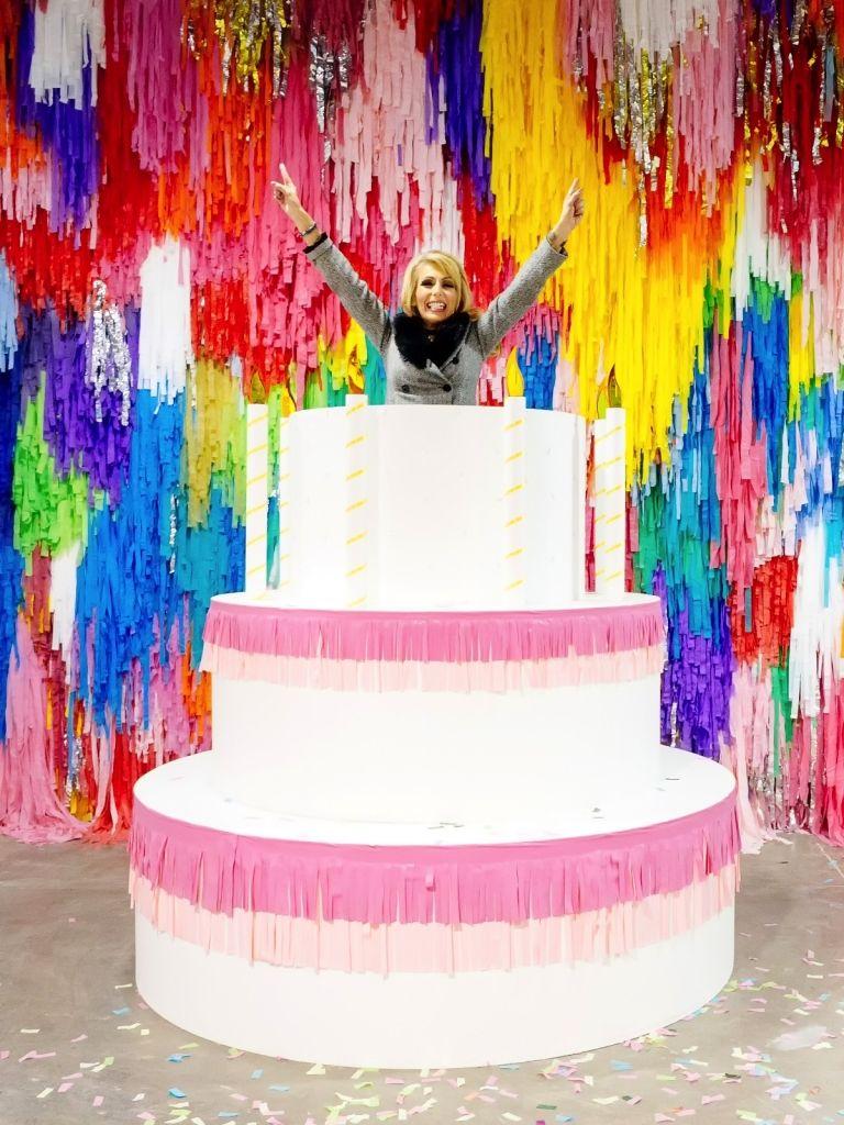 Miraculous Giant Birthday Cake At Sugar Republic Dessert Museum In Melbourne Funny Birthday Cards Online Alyptdamsfinfo